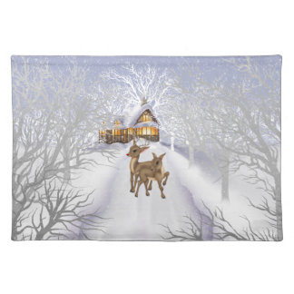 Christmas Reindeer Holiday Cartoon Place mat