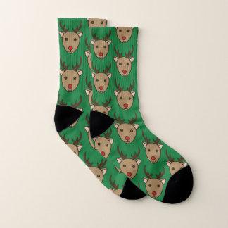 Christmas Reindeer Holiday Socks 1