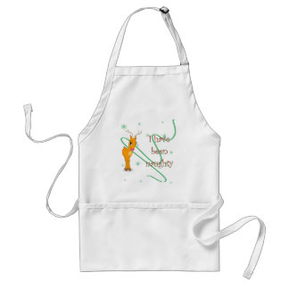 Christmas Reindeer I have been Naughty Apron
