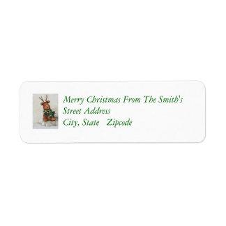 Christmas Reindeer Return Address Label