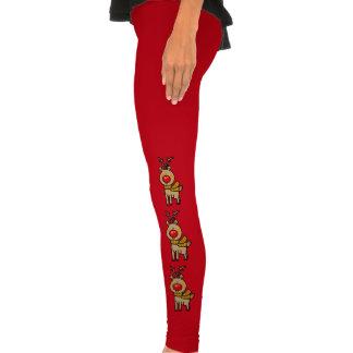 Christmas reindeer legging tights