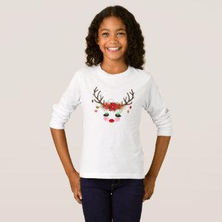 Christmas Reindeer Long-sleeve Tshirt