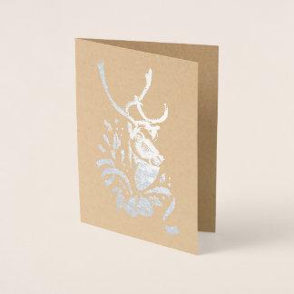 Christmas Reindeer Metallic Foil Holiday Card