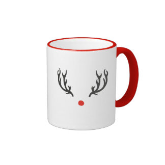 Christmas Reindeer Minimal Mug