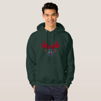 christmas reindeer moon emoji men hoody sweatshirt