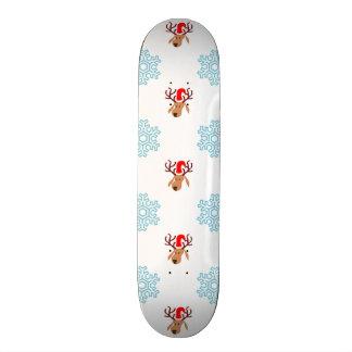 Christmas Reindeer Pattern 21.6 Cm Old School Skateboard Deck