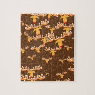 Christmas reindeer pattern jigsaw puzzle