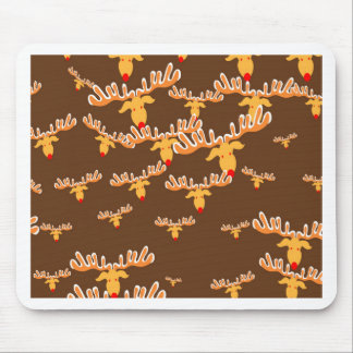 Christmas reindeer pattern mouse pad