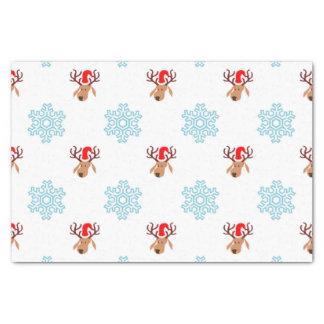 Christmas Reindeer Pattern Tissue Paper