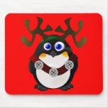 Christmas Reindeer Penguin Mousepad