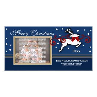Christmas Reindeer Photocard Customised Photo Card