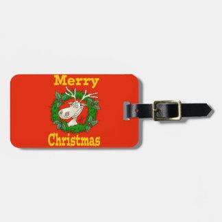 Christmas Reindeer reef. Luggage Tag