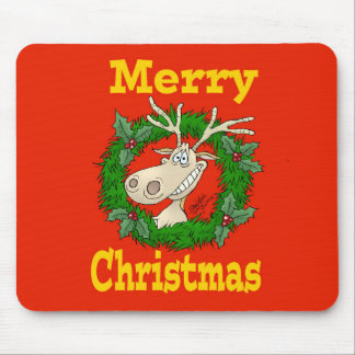 Christmas Reindeer reef. Mouse Pad
