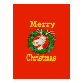 Christmas Reindeer reef. Postcard