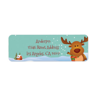 Christmas Reindeer Return Address Labels