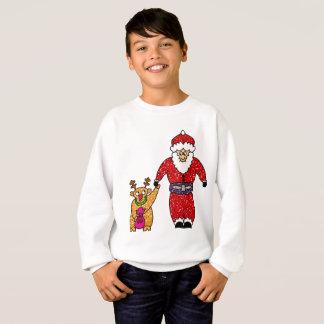 Christmas Reindeer Santa Claus Sweatshirt