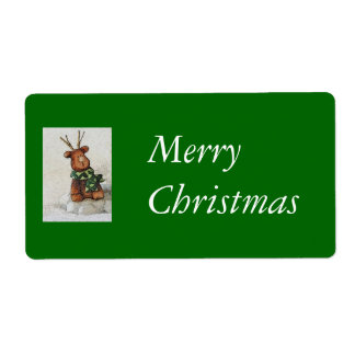 Christmas Reindeer Shipping Label