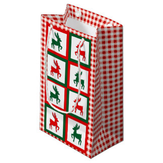 Christmas Reindeer Small Gift Bag