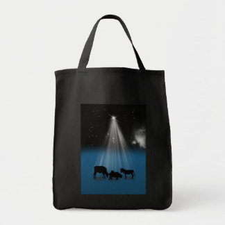 Christmas, Religious, Nativity, Stars, Bag