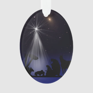 Christmas, Religious, Nativity, Stars Ornament
