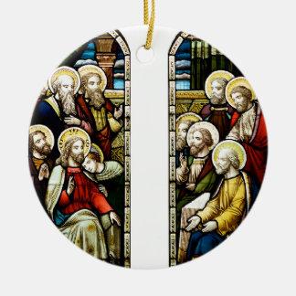 Christmas religious scene christmas ornaments