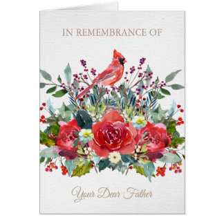 Christmas Remembrance Card | Dear Father