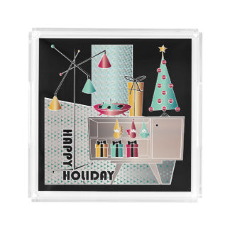 Christmas Retro Tree Acrylic Tray
