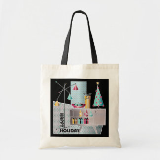 Christmas Retro Tree Tote Bag