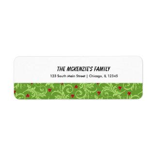 Christmas Return Address Label
