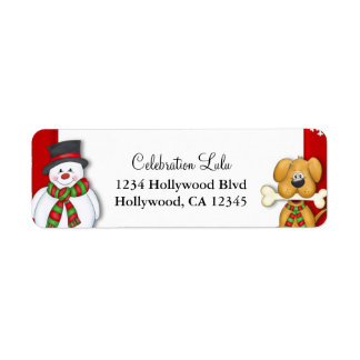 Christmas Return Address Label