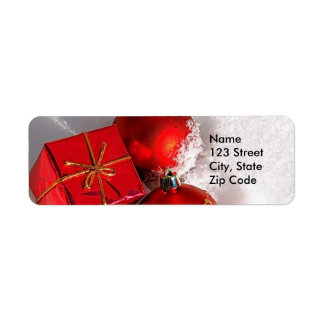 Christmas Return Address Labels or Favor Gift Tags