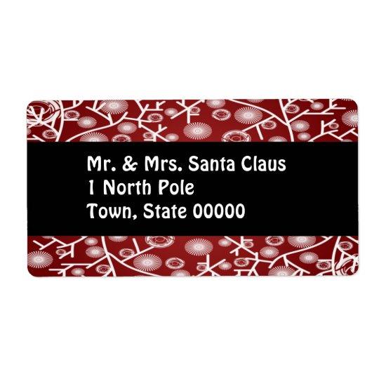 Christmas Return Address Packaging Labels