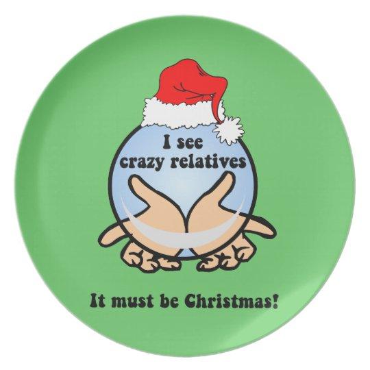 Christmas reunion plate