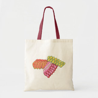 Christmas Ribbon Candy Colorful Holiday Tote
