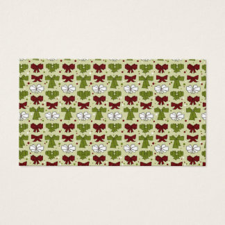 Christmas Ribbons & Bows Business Card
