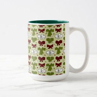 Christmas Ribbons & Bows Two-Tone Coffee Mug