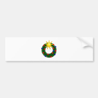 Christmas ring christmas wreath bumper stickers