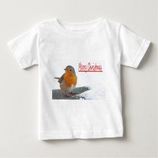 Christmas Robin Baby T-Shirt