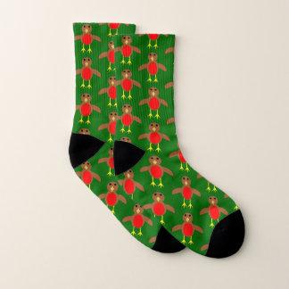 Christmas Robin Patterned Socks 1