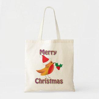 Christmas Robin Shopping Bag