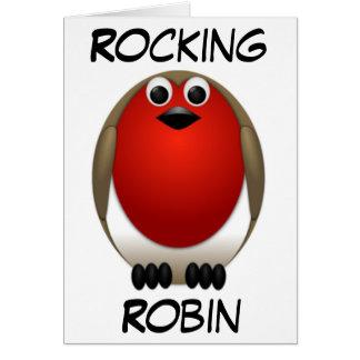 Christmas Rocking Robin Greeting Card
