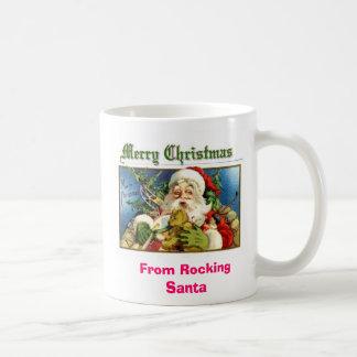 Christmas Rocking Santa Mug