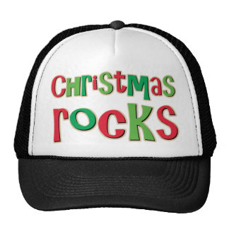 Christmas Rocks In Red and Green Trucker Hat