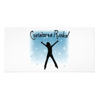 Christmas Rocks! Personalised Photo Card