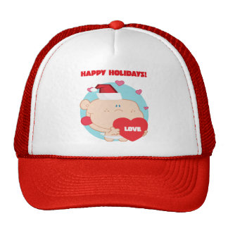 Christmas, Romantic Cupid with Heart Cap