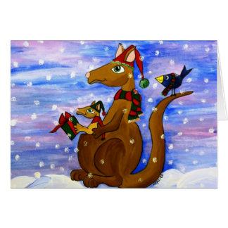 Christmas Roos Greeting Card