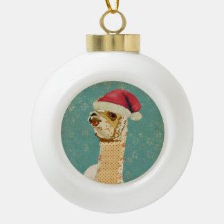 Christmas Rose Alpaca Ornament