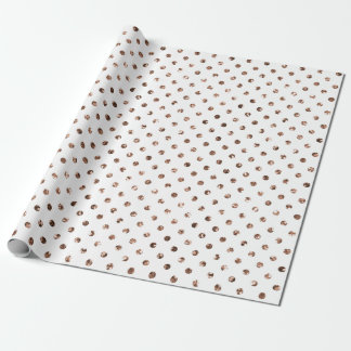 Christmas Rose Gold Glitter Vintage Cool White Wrapping Paper