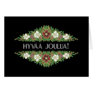 Christmas Roses, Hellebores, Finnish Language Card