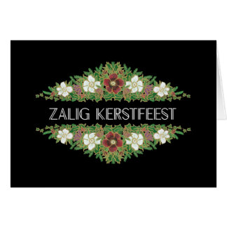 Christmas Roses, Hellebores, Flemish Language Card